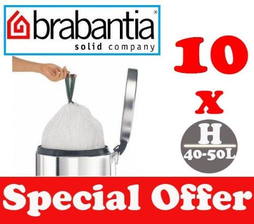 10 X 50-60 L Litres Brabantia Smartfix Sacs Poubelles De Déchets Sacs Sacs Type H-afficher Le Titre D'origine
