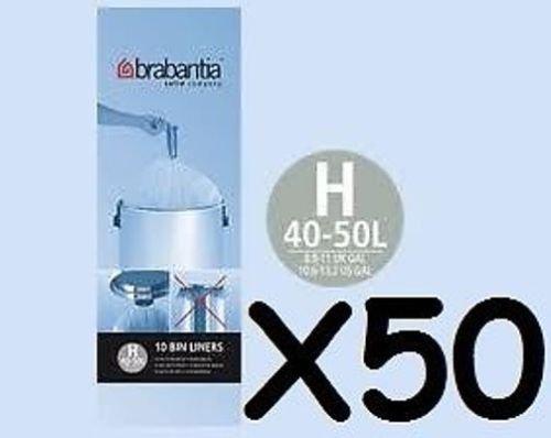 5 X Brabantia Sacs Poubelles Type H Liner 50-60 L Roll 10-afficher Le Titre D'origine