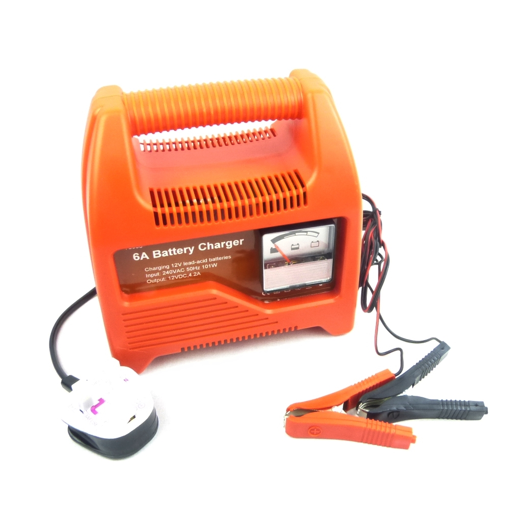 12V Car Battery Charger 6 Amp Compact Portable Battery