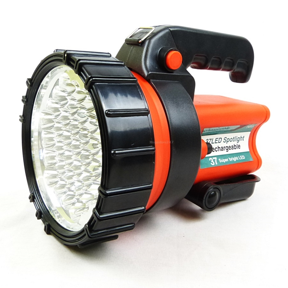 rechargeable led torch work light spotlight lantern 37 led 12v charger incl ebay. Black Bedroom Furniture Sets. Home Design Ideas