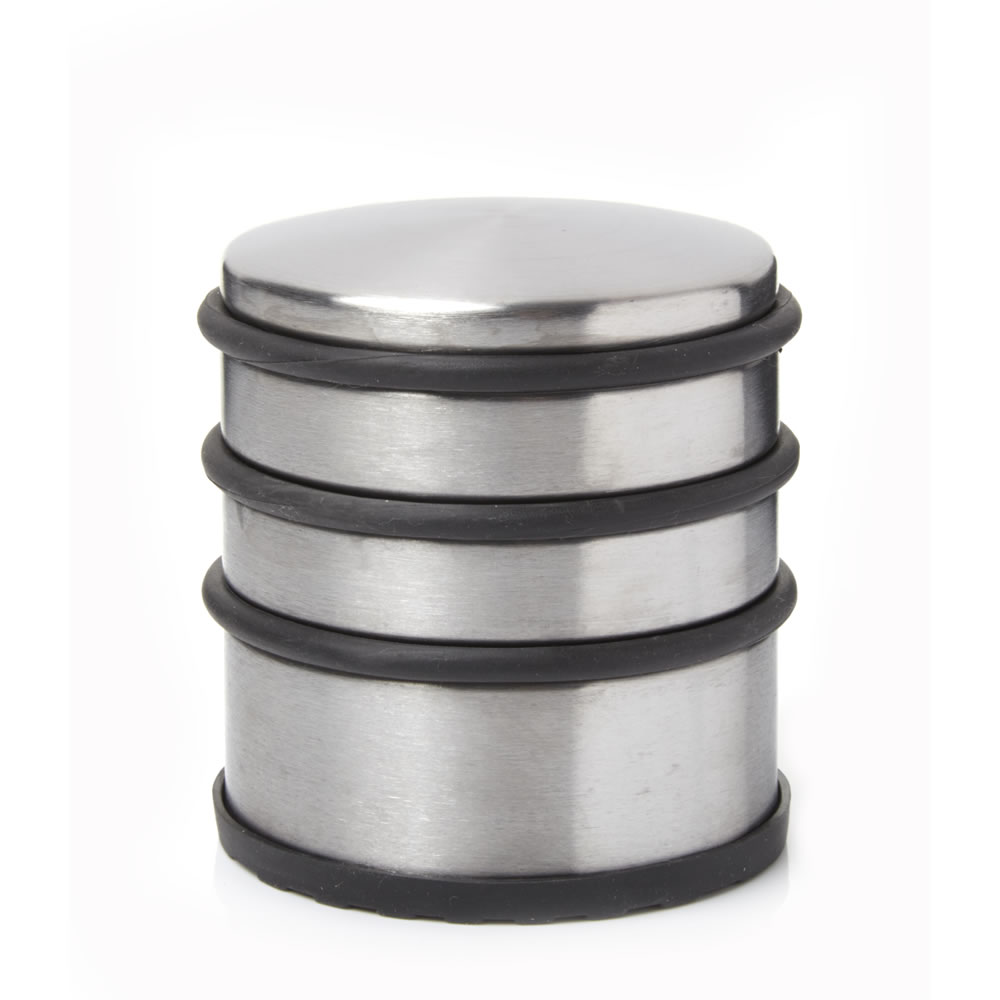 door stopper heavy duty stainless steel round solid door wedge stop rubber base