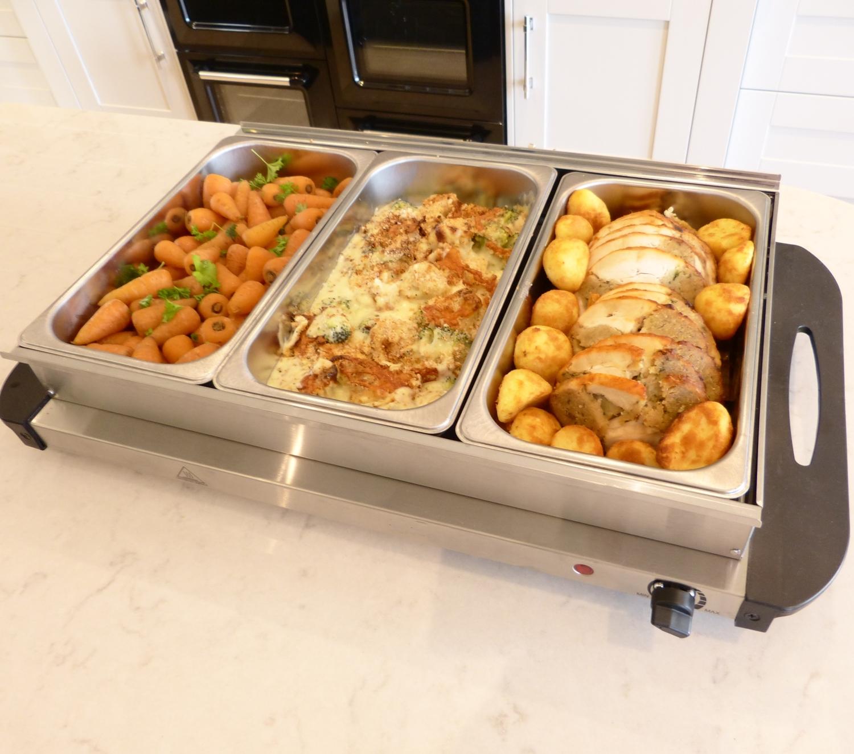 buffet server and warming tray food warmer trays hot plate 3 pan rh ebay com buffet warming trays buffet warming trays