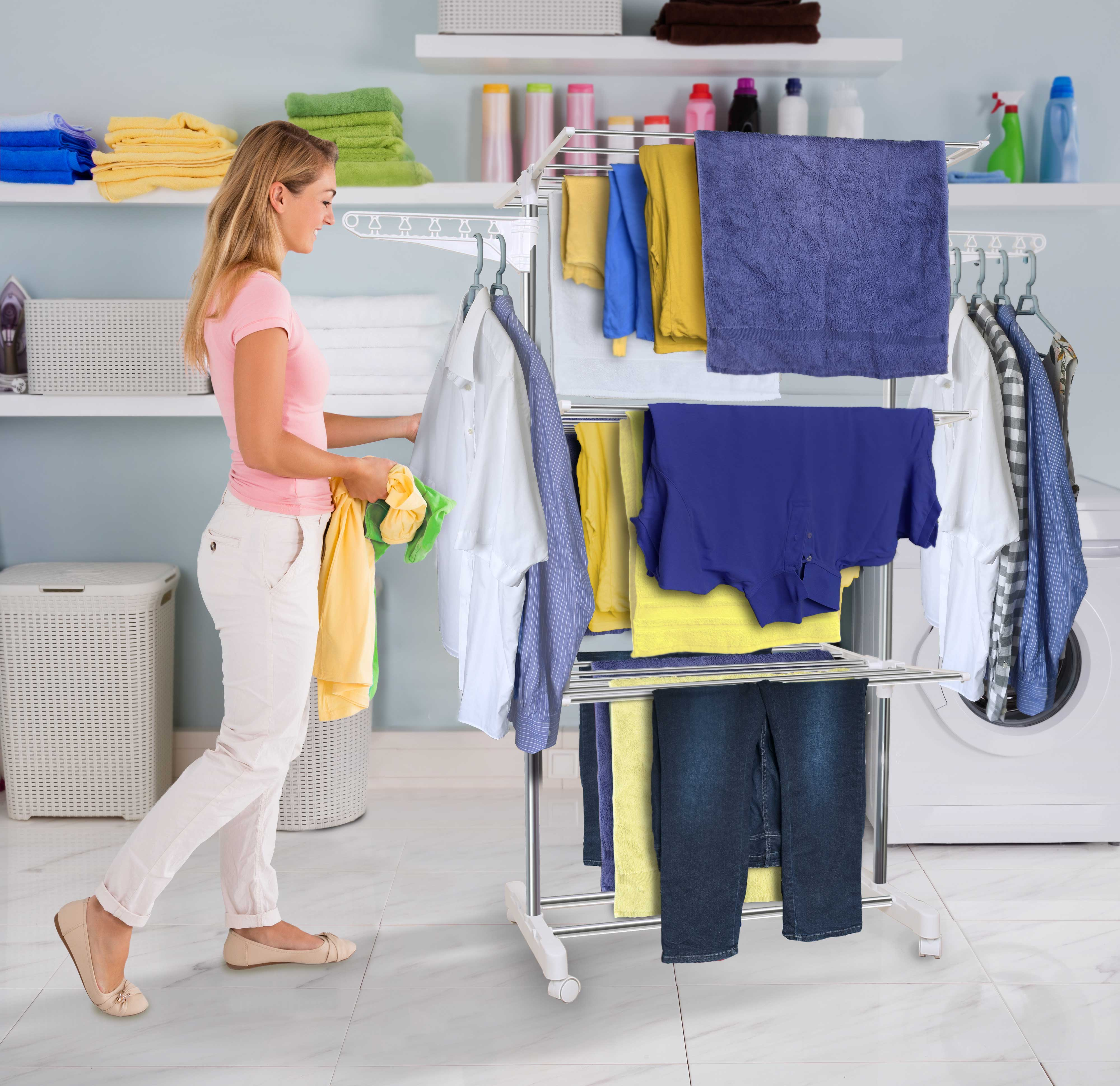 Clothes Airer Drying Rack Extra Large 3 Tier Clothes Drying Rail