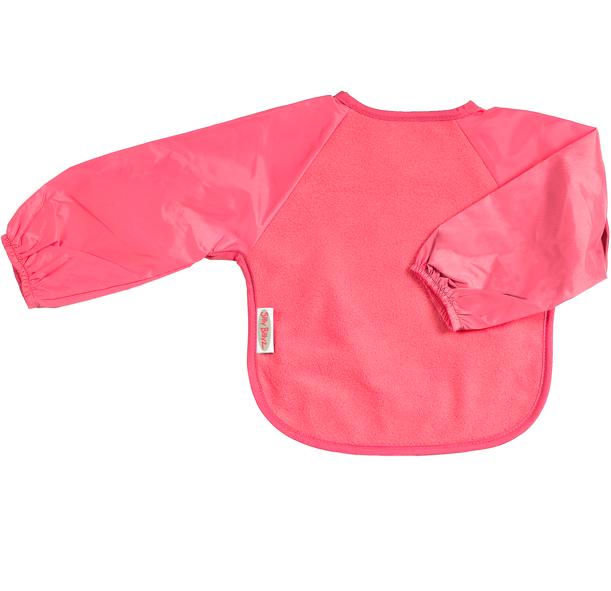 Silly Billyz Baby Weaning Bib - Long Sleeves - Fleece - Cerise Pink - 6-24  Mths 8ba09cec5