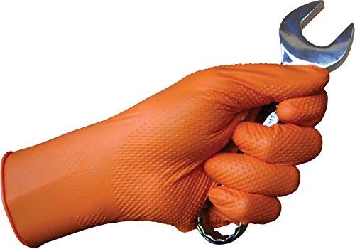tiger grip orange nitrile gloves small medium large xl xxl
