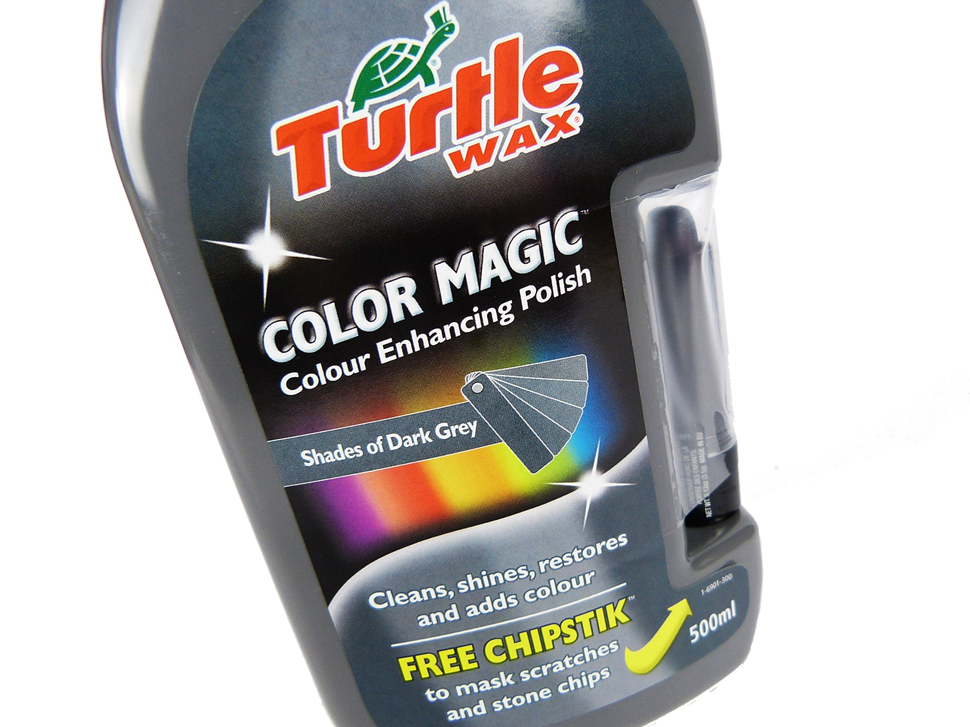 turtle wax colour magic dark grey car polish 500ml ebay. Black Bedroom Furniture Sets. Home Design Ideas