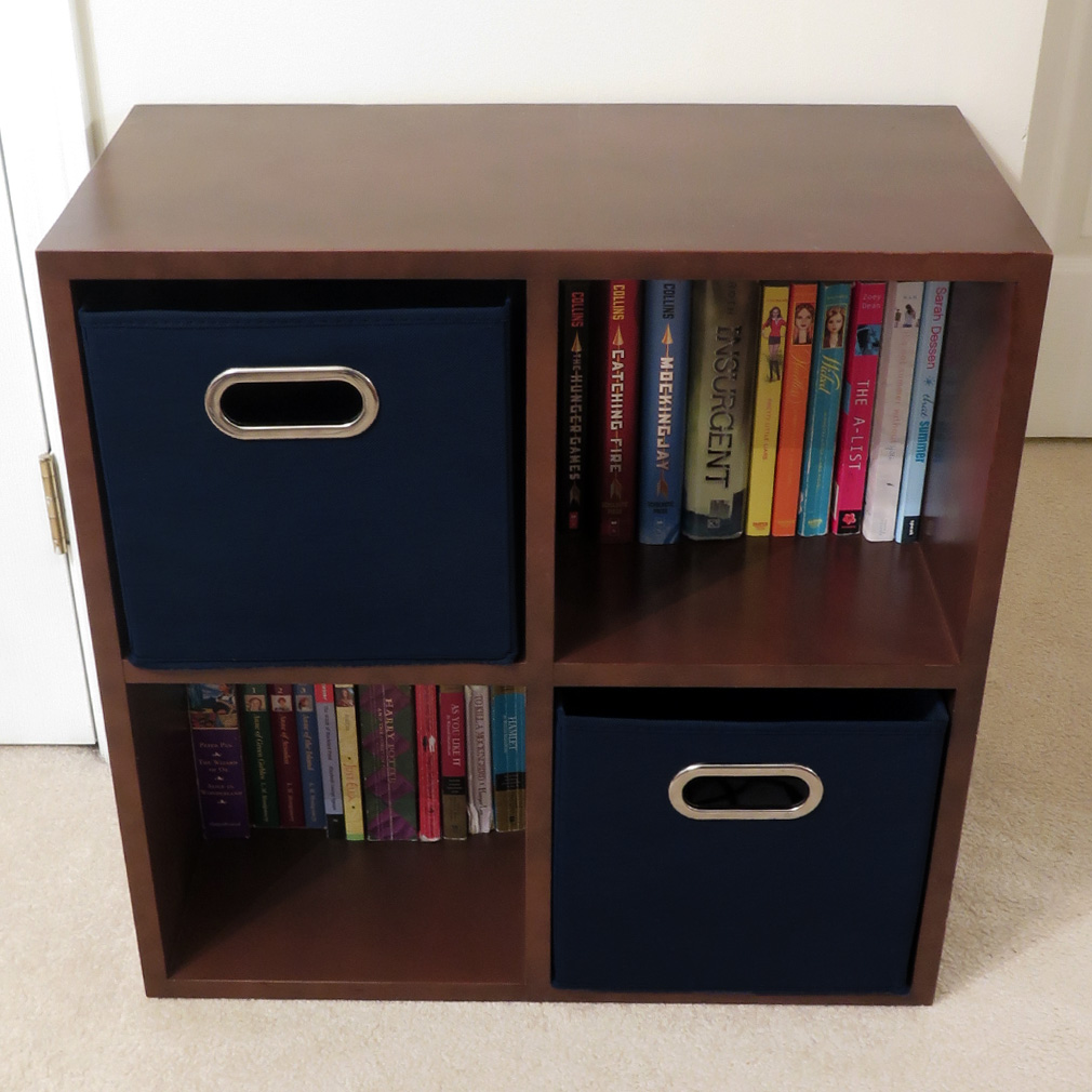 Evelots Navy Or Black Foldable Fabric Cube Storage