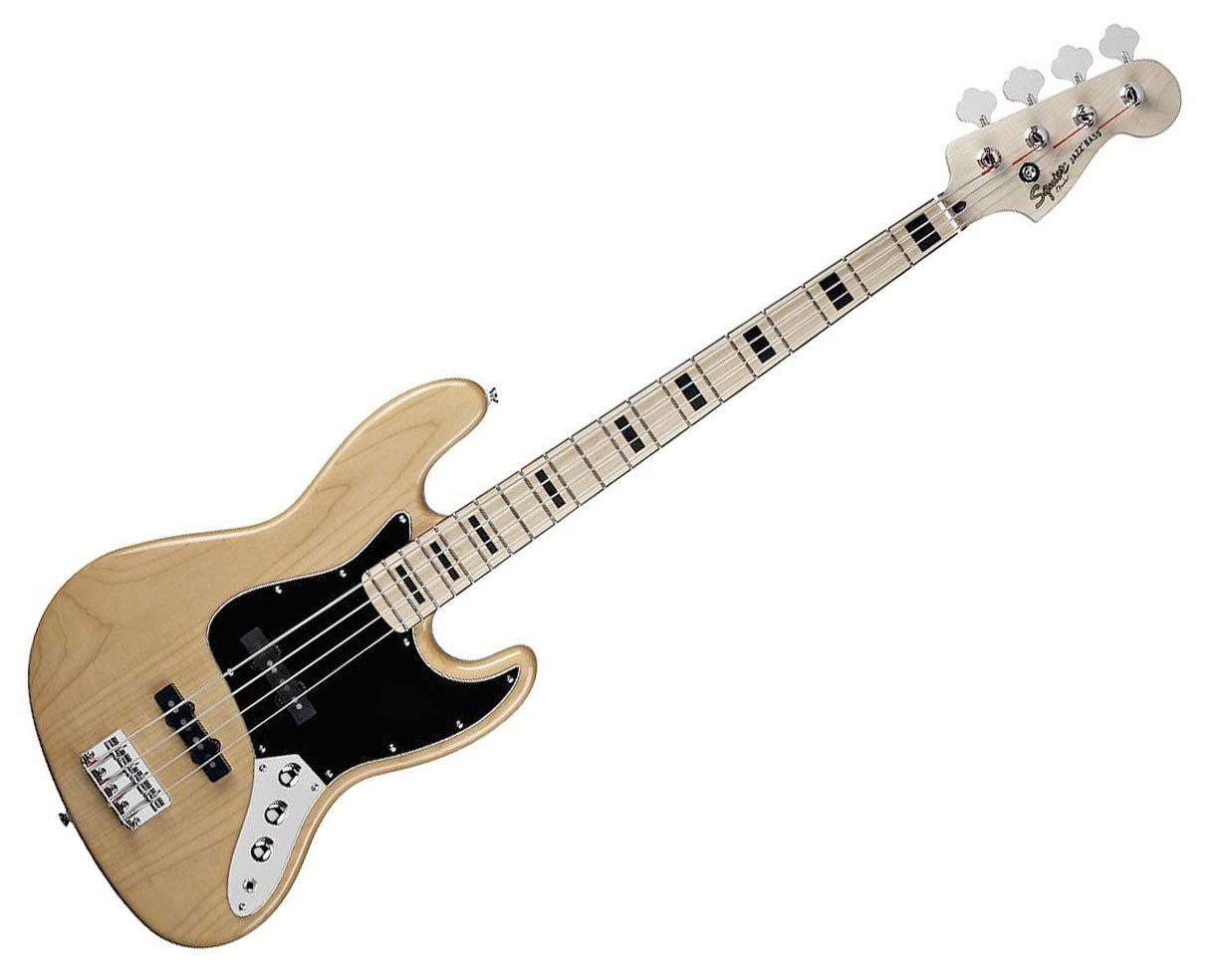 squier vintage modified 70s jazz bass natural ebay. Black Bedroom Furniture Sets. Home Design Ideas