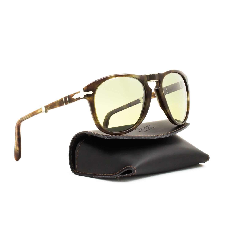 d63b5c6f2f8 Persol 714 Folding Sunglasses 972 83 Beige Striped Brown