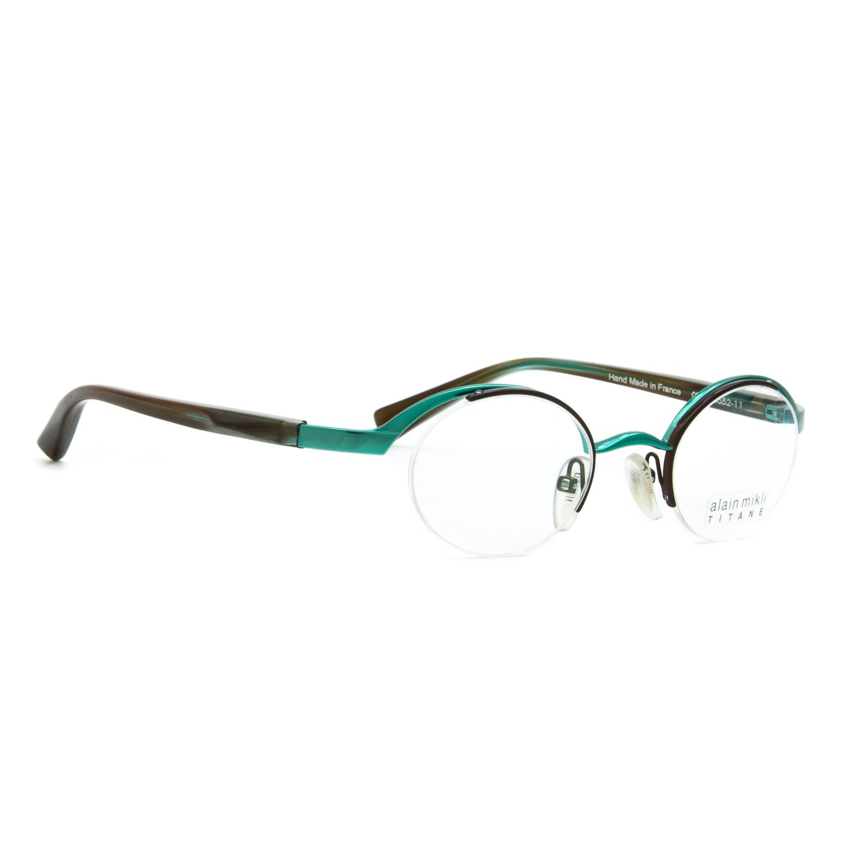e7b31bf88c Alain Mikli AL 0552 Eyeglasses Green Brown Frame Clear .