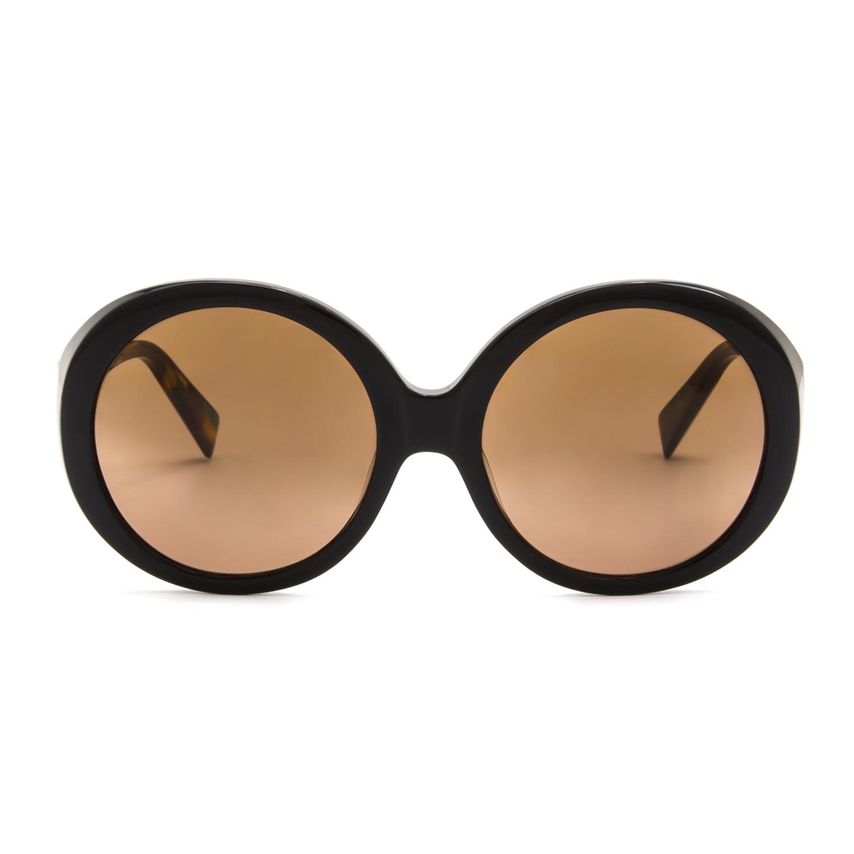 0a330e70f7 Alain Mikli AL 1409 Womens Sunglasses A038 Black Yellow Green Frame Brown  Lenses