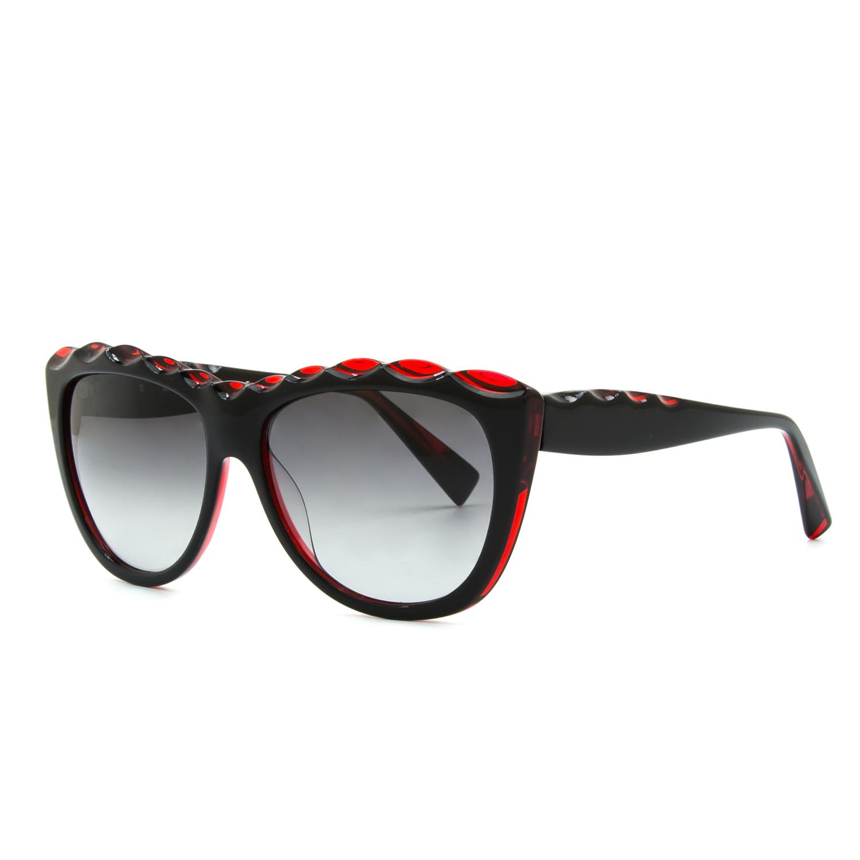 181f39e955 Alain Mikli AL 1408 Womens Sunglasses 3075 Black Red Frame .