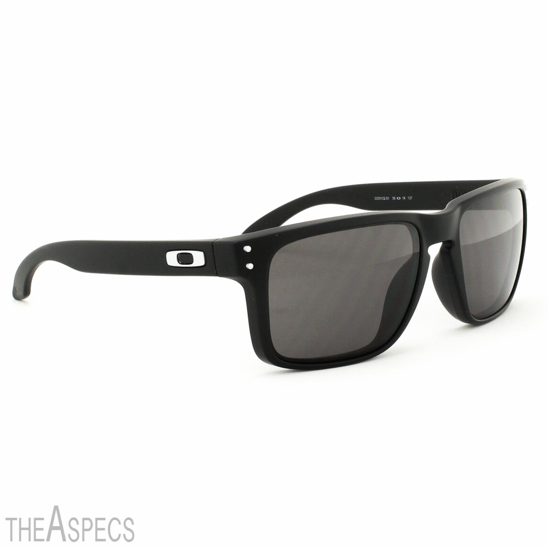 Oakley Holbrook Polarized Sunglasses Matte Black Warm Grey ... 3dab4e302f