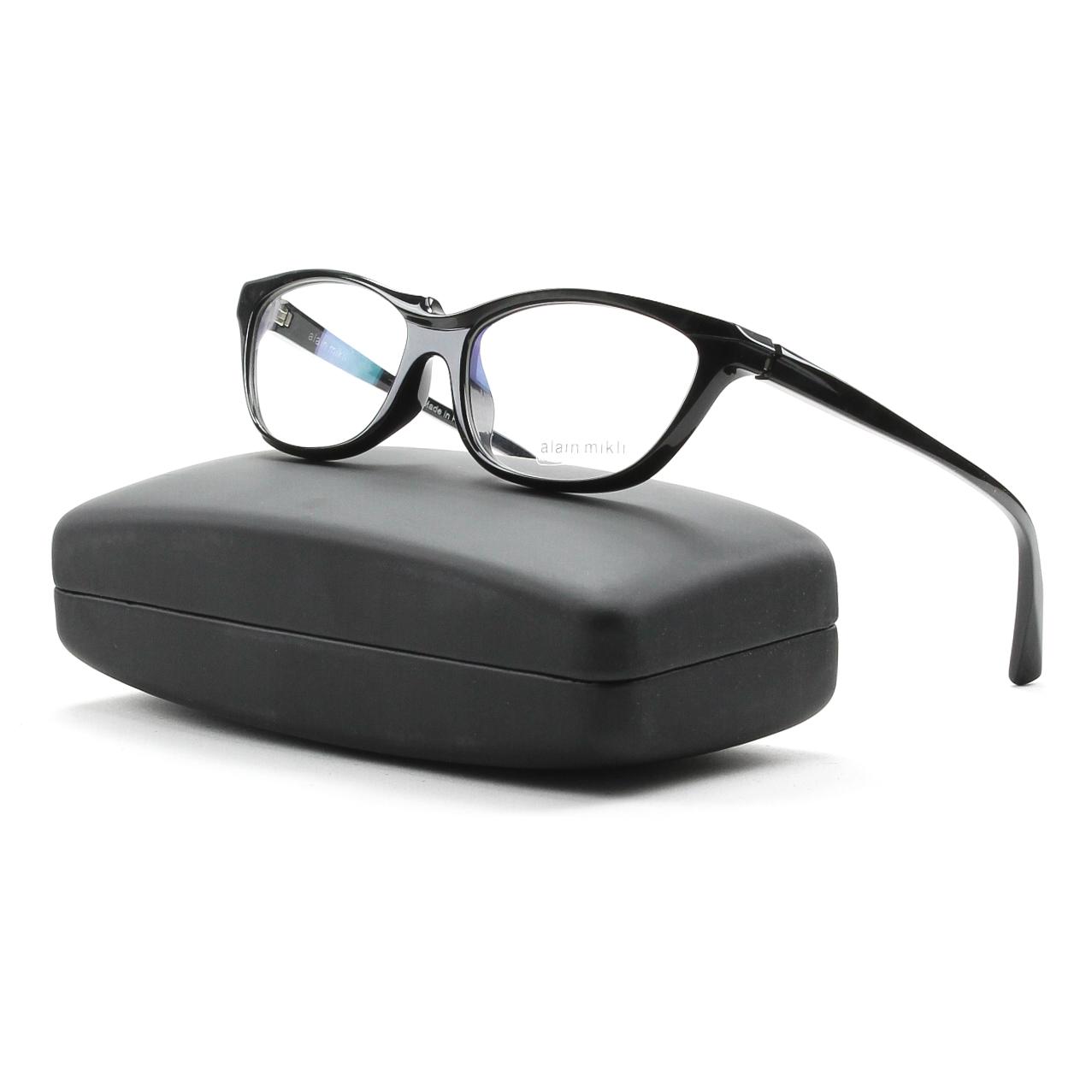 1bdc6a885b Alain Mikli AL0882 Eyeglasses 03 Black Frame   RX Clear Demo Prescription  Lenses