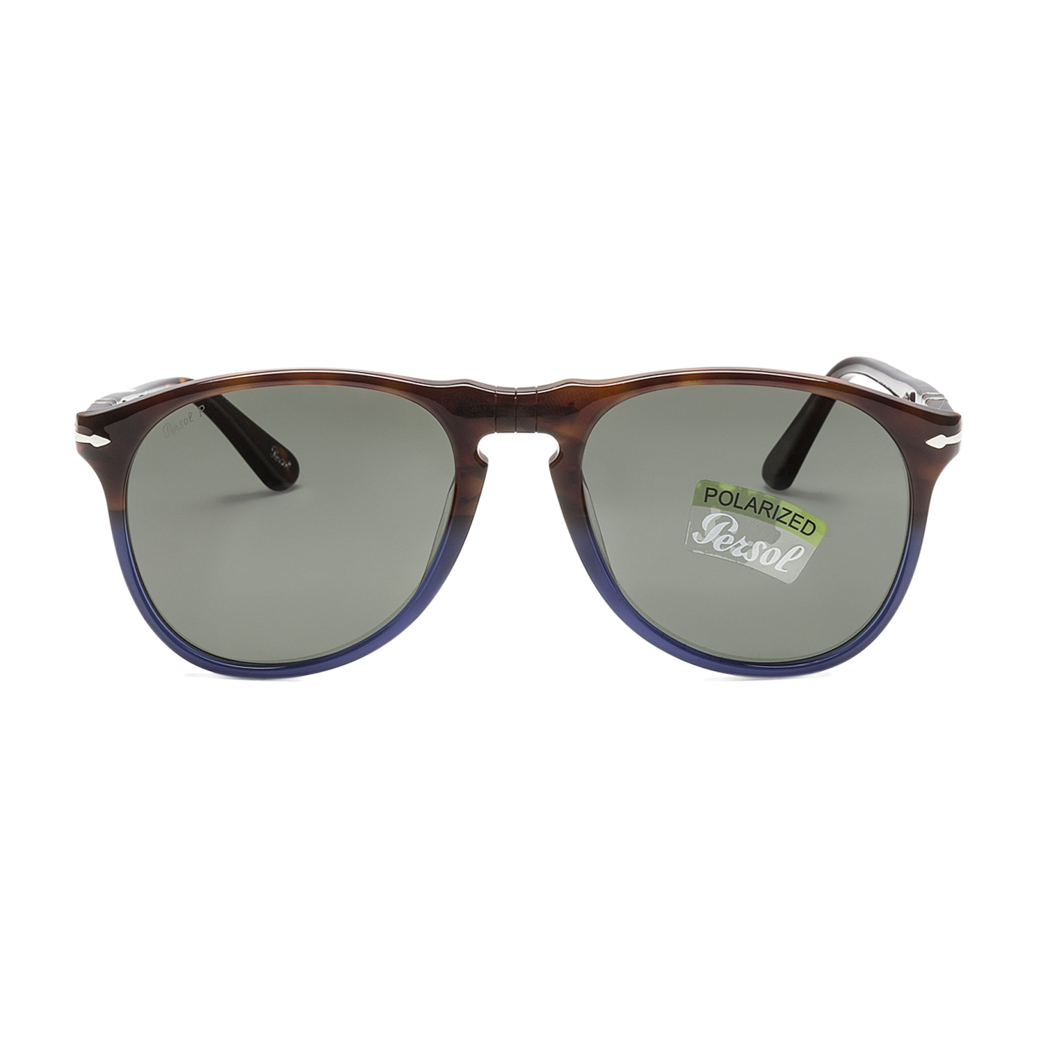 6112111aac0 Persol 9649 Aviator Sunglasses Terra e Oceano Brown Blue   Green Polarized  52 mm