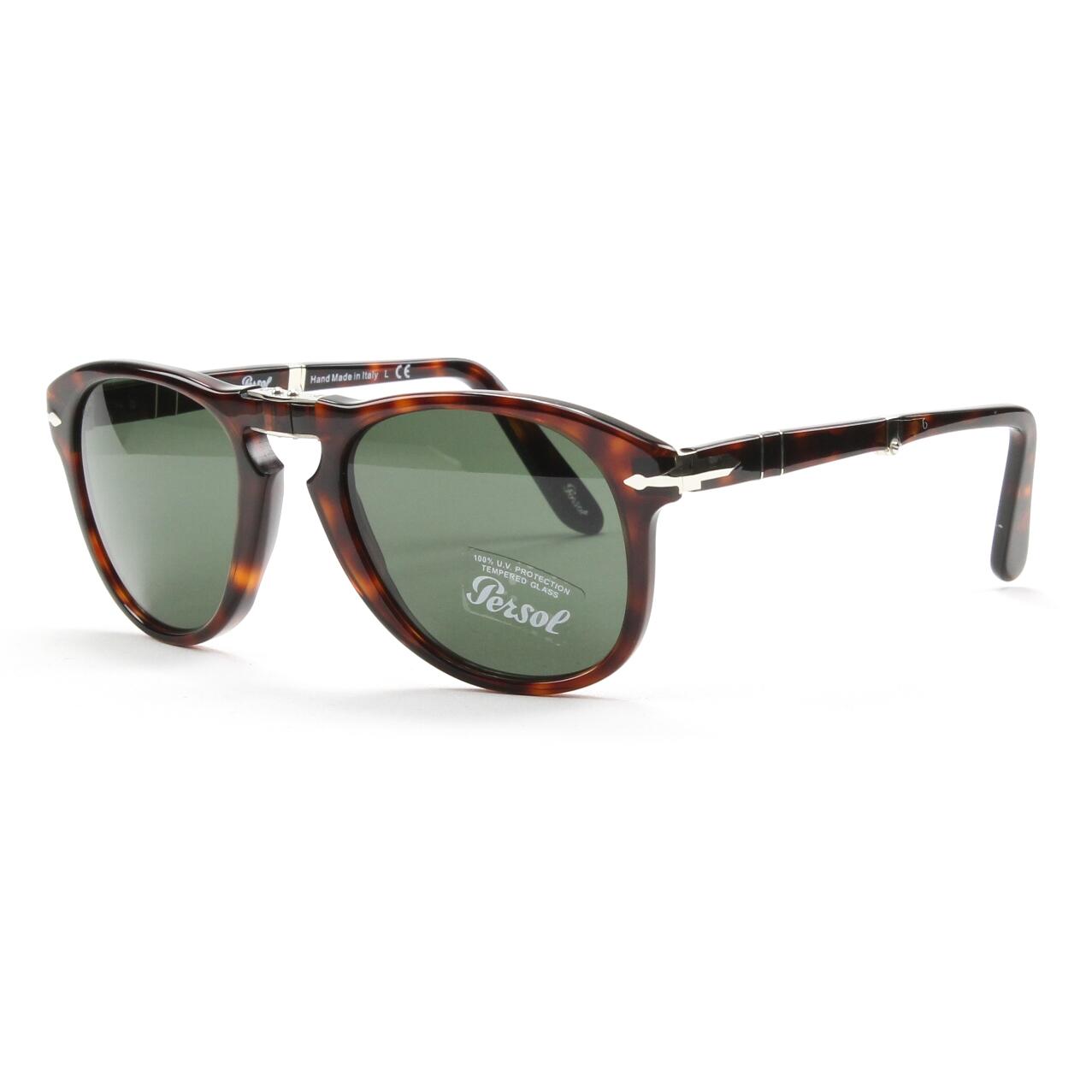 Persol 714 Folding Sunglasses 24/31 Brown Havana, Grey Crystal Lens PO0714 52mm | eBay
