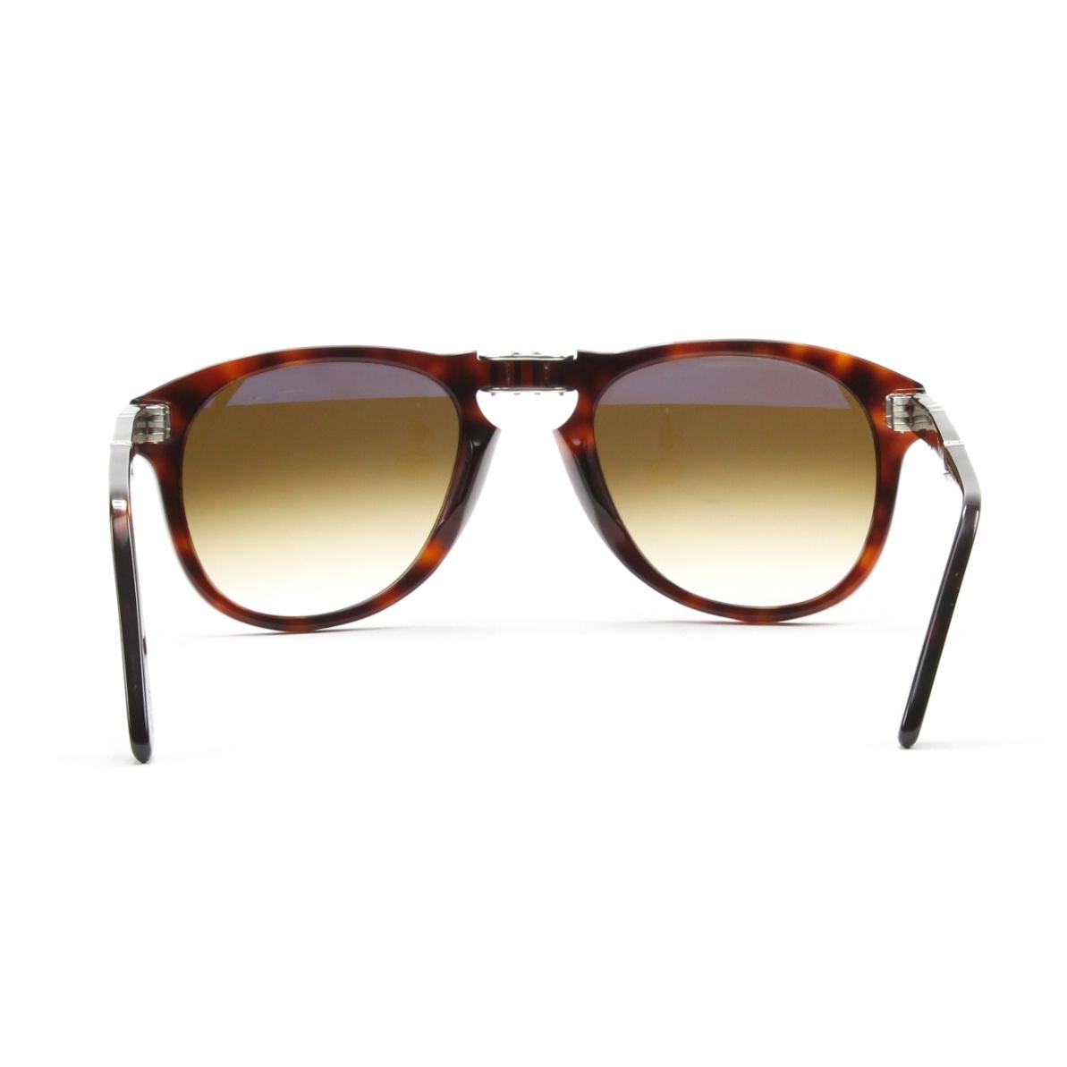 Persol 714 Folding Sunglasses 24/51 Brown Havana, Gradient Lenses PO0714 52mm | eBay