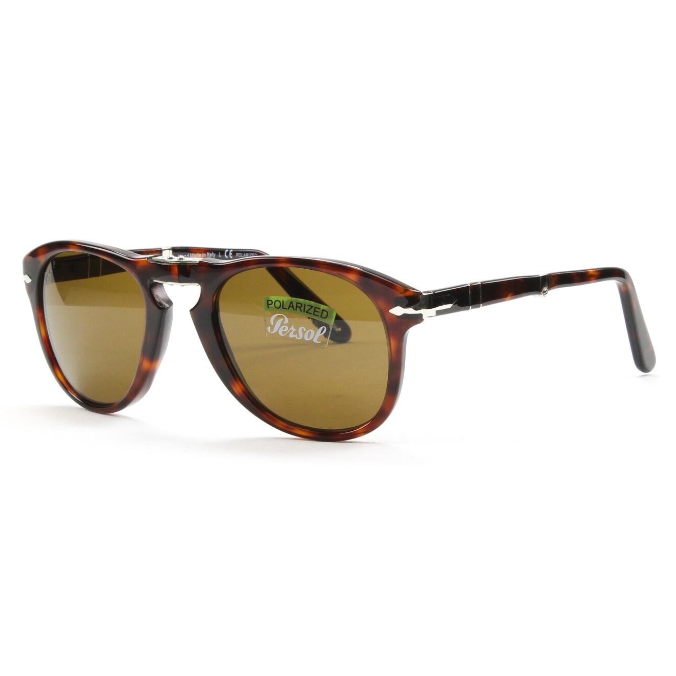 Persol 714 Folding Sunglasses 24/57 Havana, Brown Polarized Crystal Lenses 52mm | eBay