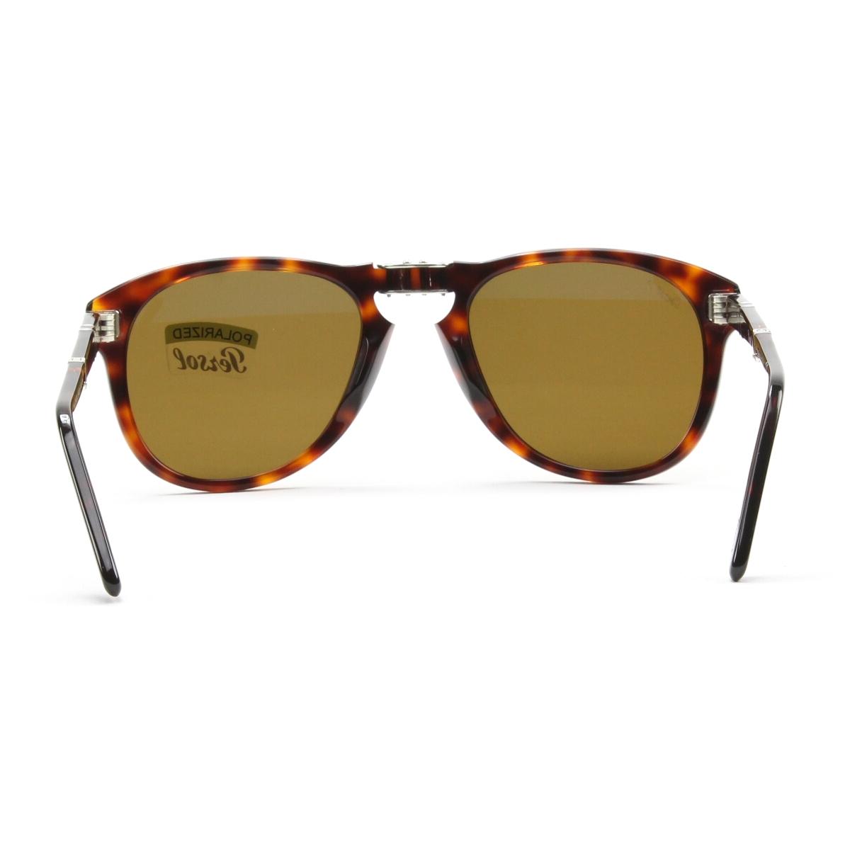 Persol 714 Folding Sunglasses 24/57 Havana, Brown Polarized Crystal Lenses 54mm | eBay