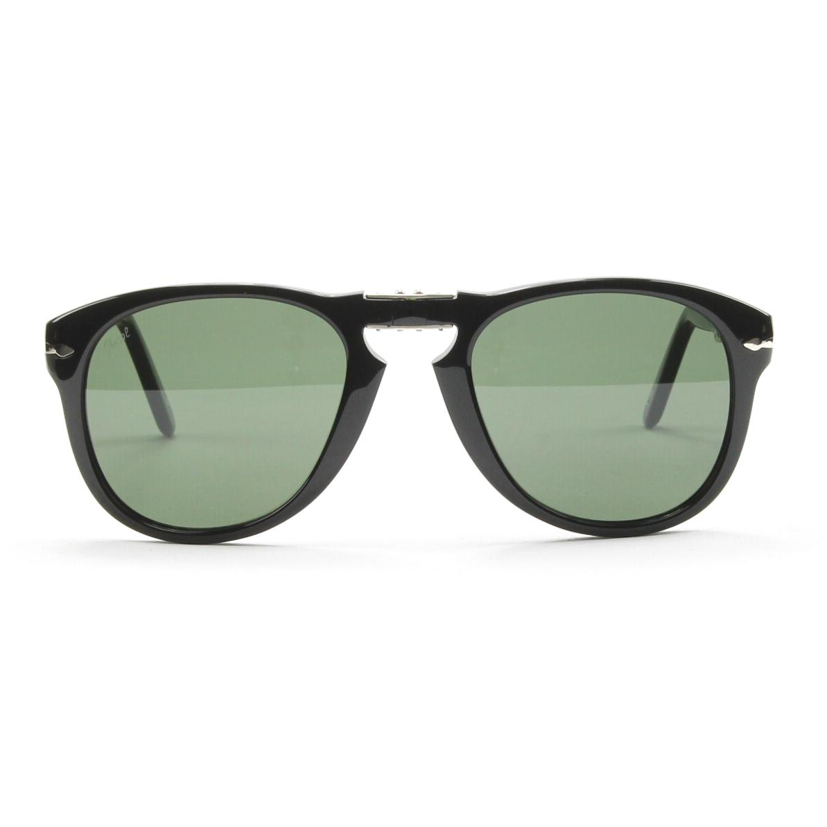 Persol 714 Folding Sunglasses 95/31 Black, Grey Crystal Lens PO0714 54mm NEW | eBay