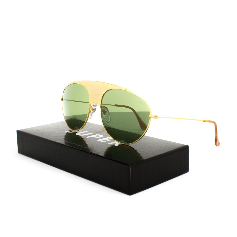 f252b75caaa0 Details about RETROSUPERFUTURE Super Leon Notorious Sunglasses 70T Gold    Green Barberini Lens