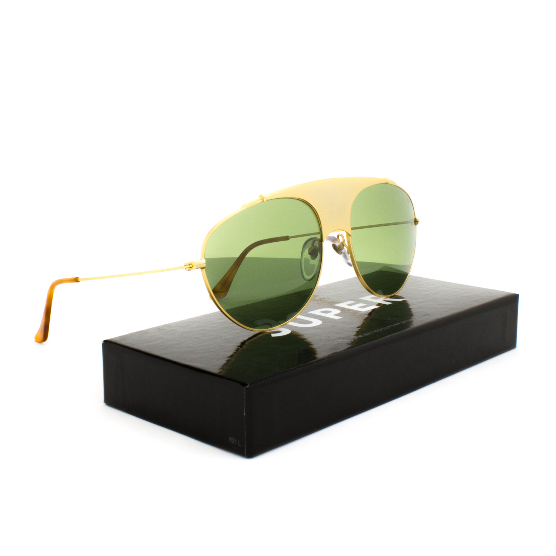 95ba27104a10 RETROSUPERFUTURE Super Leon Notorious Sunglasses 70T Gold   Green Barberini  Lens