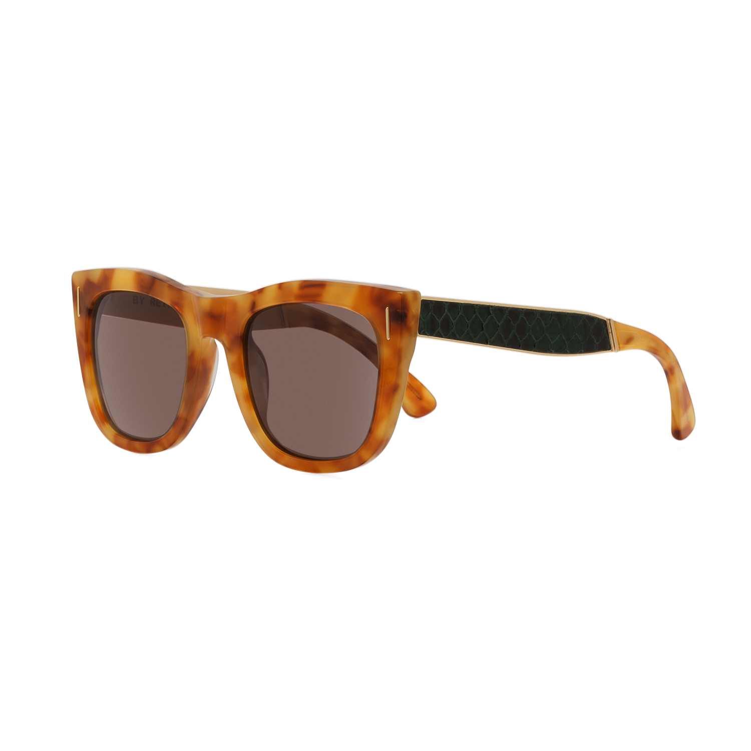 315ec2551d3 RETROSUPERFUTURE Super Gals Sinner Sunglasses SU7JL Brown Green Snake Skin  Frame