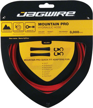 NEW Jagwire Mountain Pro Disc Hose Red 3000mm
