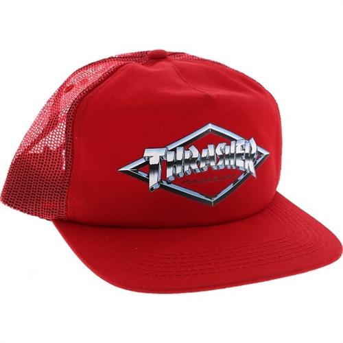 Thrasher Diamond Emblem Trucker Hat Red Blue Snapback  14732f94534