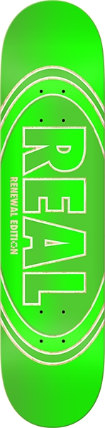 REAL CROSSFADE RENEWAL SKATE DECK-8.06 GREEN w/MOB GRIP