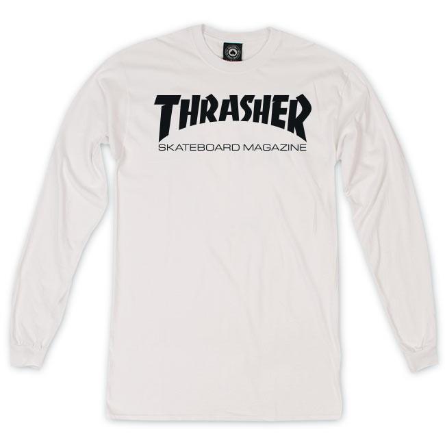 Thrasher Skate Mag Longsleeve Tshirt White Black XL 10202008858  d93c3271c513