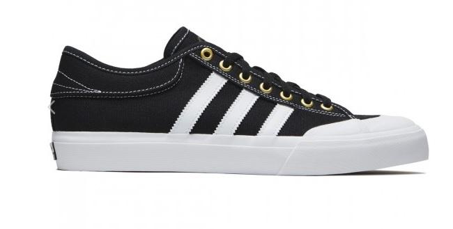 premium selection 48e4d 85bfb Adidas MatchCourt Canvas Shoes Black White Gold