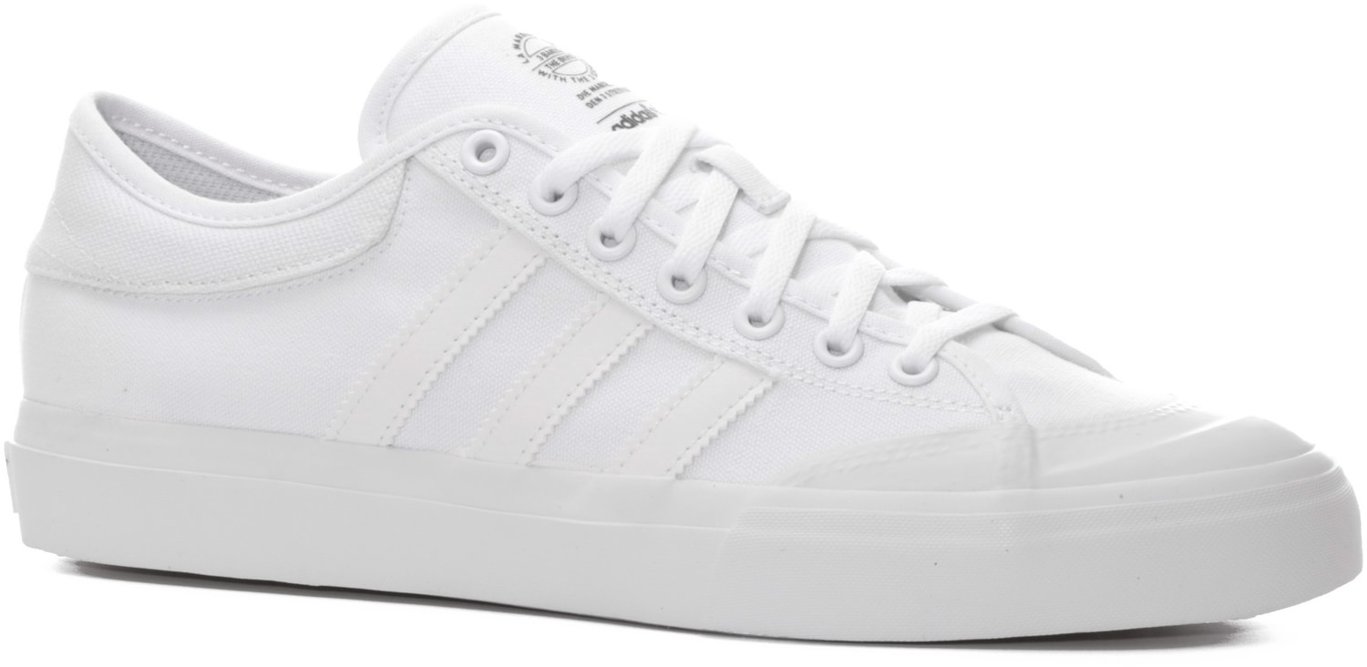 Adidas MatchCourt Canvas Shoes All White  b4f386dfa183