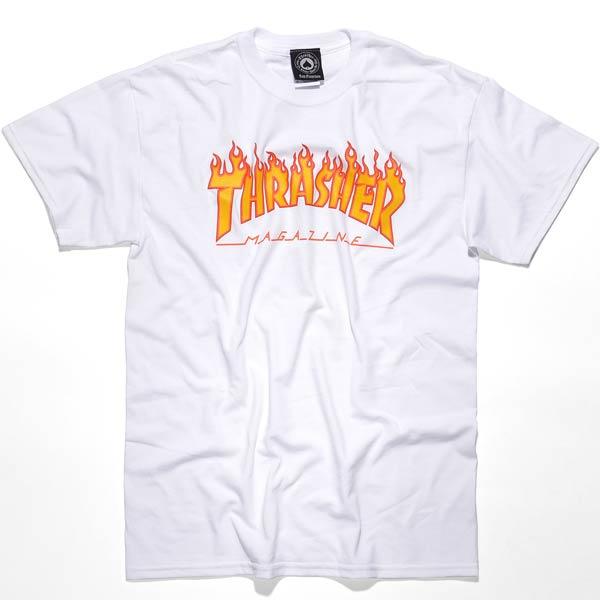 0ef05794edbf Thrasher Flame SS Tshirt Mens White XXL 10202007271