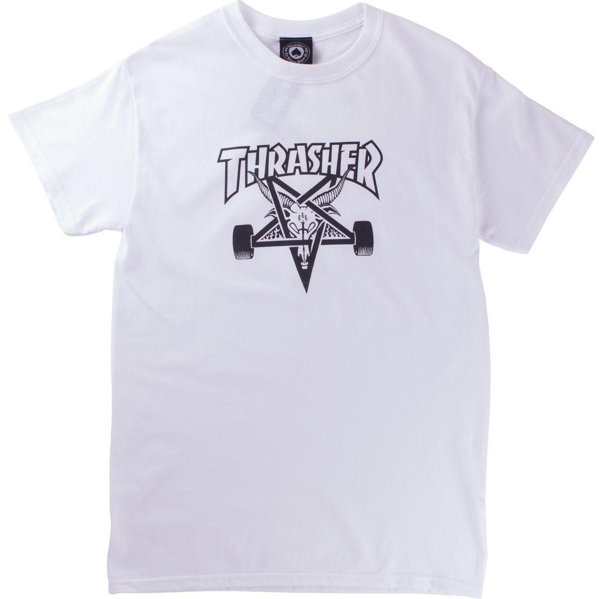 45a2125e62de Details about Thrasher Skategoat SS Tshirt White Black