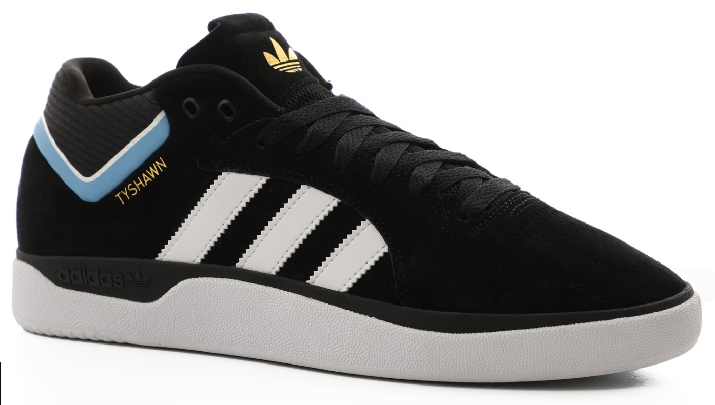 Details about Adidas Tyshawn Pro Skate Shoes Black White Blue