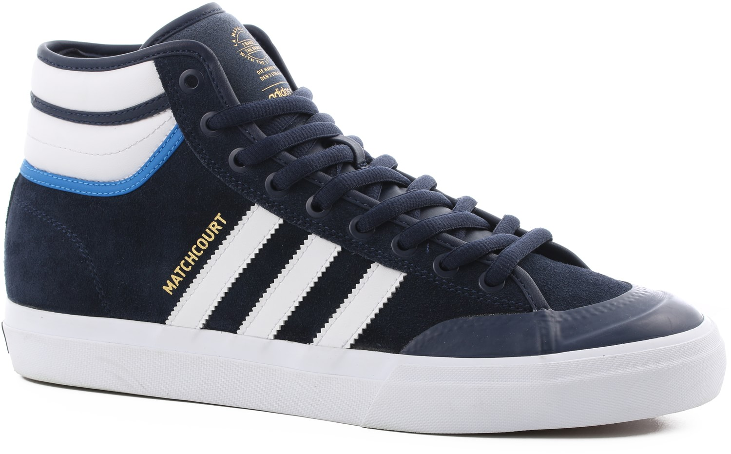 Matchcourt High RX Shoes Adidas Matchcourt High RX2 Mens Shoes Navy White  Blue ... 28466e51e