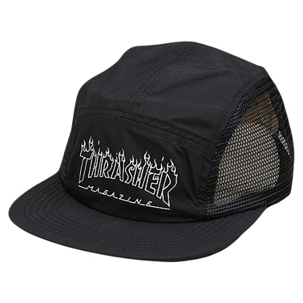 Details about Thrasher Logo 5 Panel Camp Ripstop Hat Outline Flame Snapback a526d361049