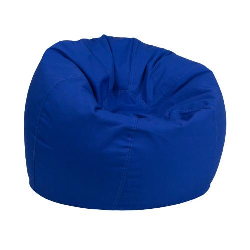 small solid royal blue kids bean bag chair fladgbeansmallsolidroyblgg