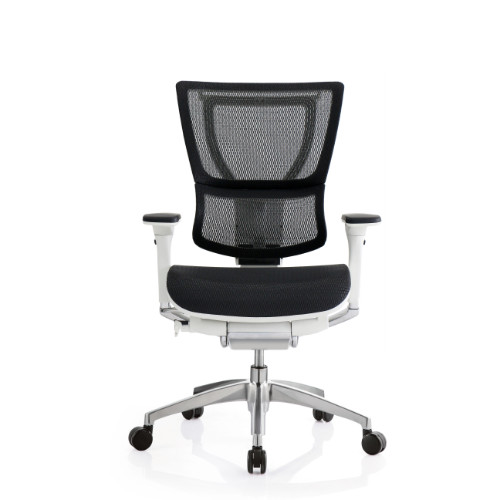eurotech office chairs. IOO Eurotech Office Ergonomic Chair Black Mesh And White Frame (NO Head Rest) Chairs H