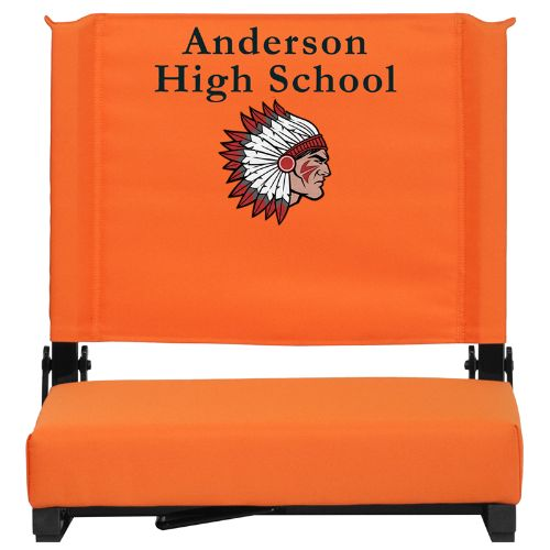 Embroidered Game Day Seats by Flash with Ultra-Padded Seat  in orange  2018 store