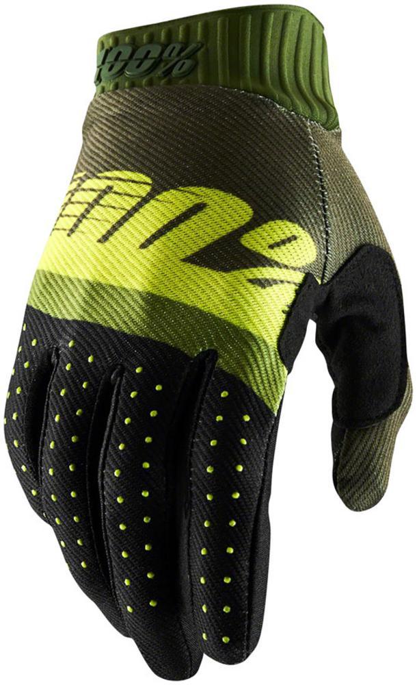 100/% Ridefit Men/'s Full Finger Gloves Orange//Black XL