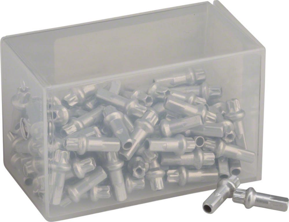 1.8 x 15mm Silver Box of 20 DT Swiss Squorx Pro Head Aluminum Nipples