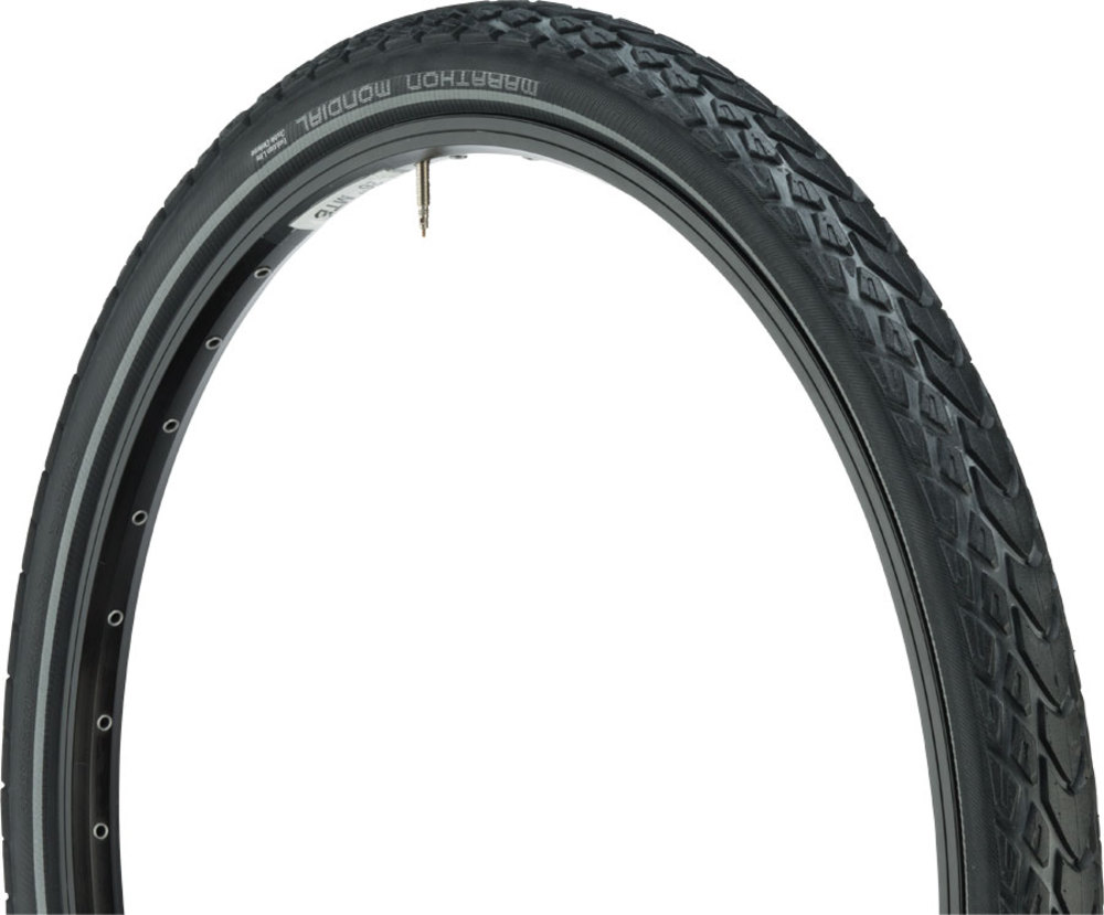 NEW Schwalbe Marathon Mondial Tire 27.5 x 2.0 Reflective Sidewall Flat Free