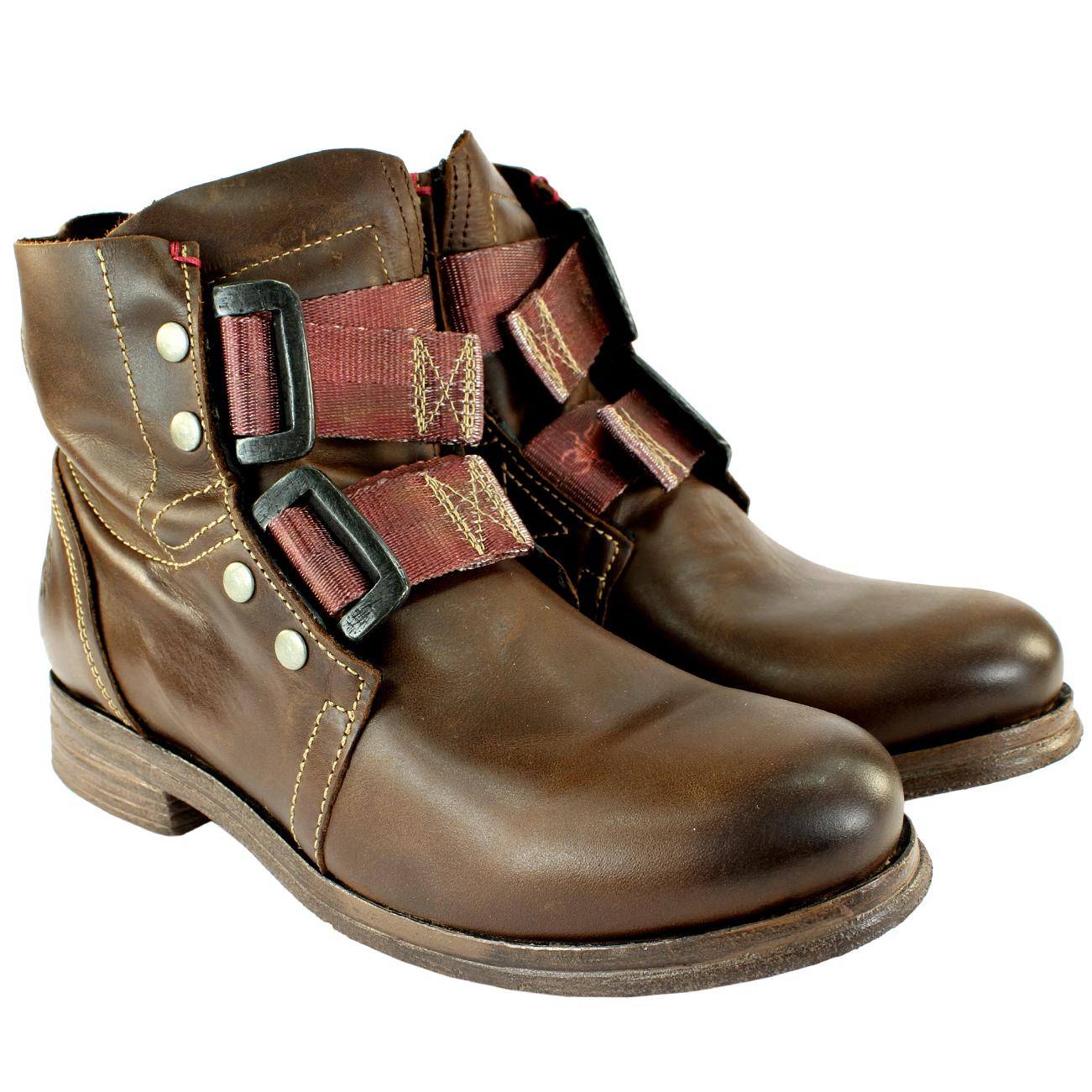 Mujeres-Fly-Londonka-Cuero-Motorista-Conducir-Zapatos-Botas-Militares-36-41