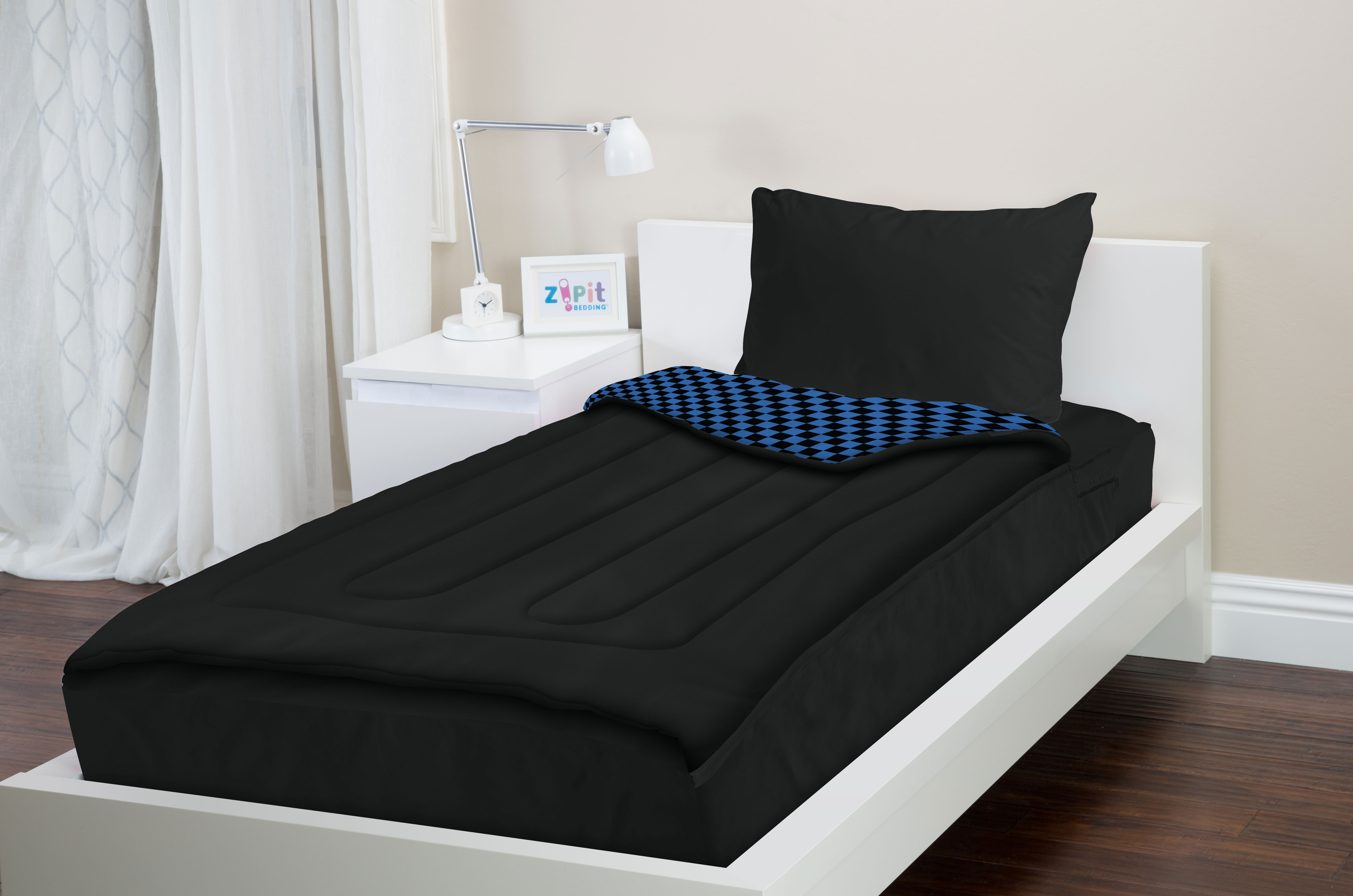 Zipit Bedding Set Zip Up Your Sheets And Comforter Like