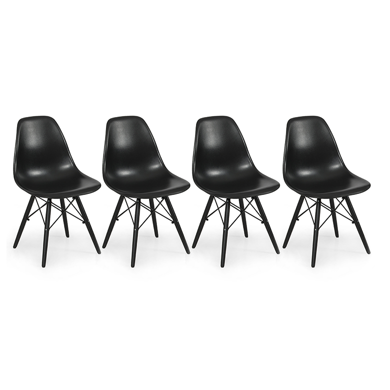 Set Of 4 Mid Century Modern Eames Style Dsw Dining Side