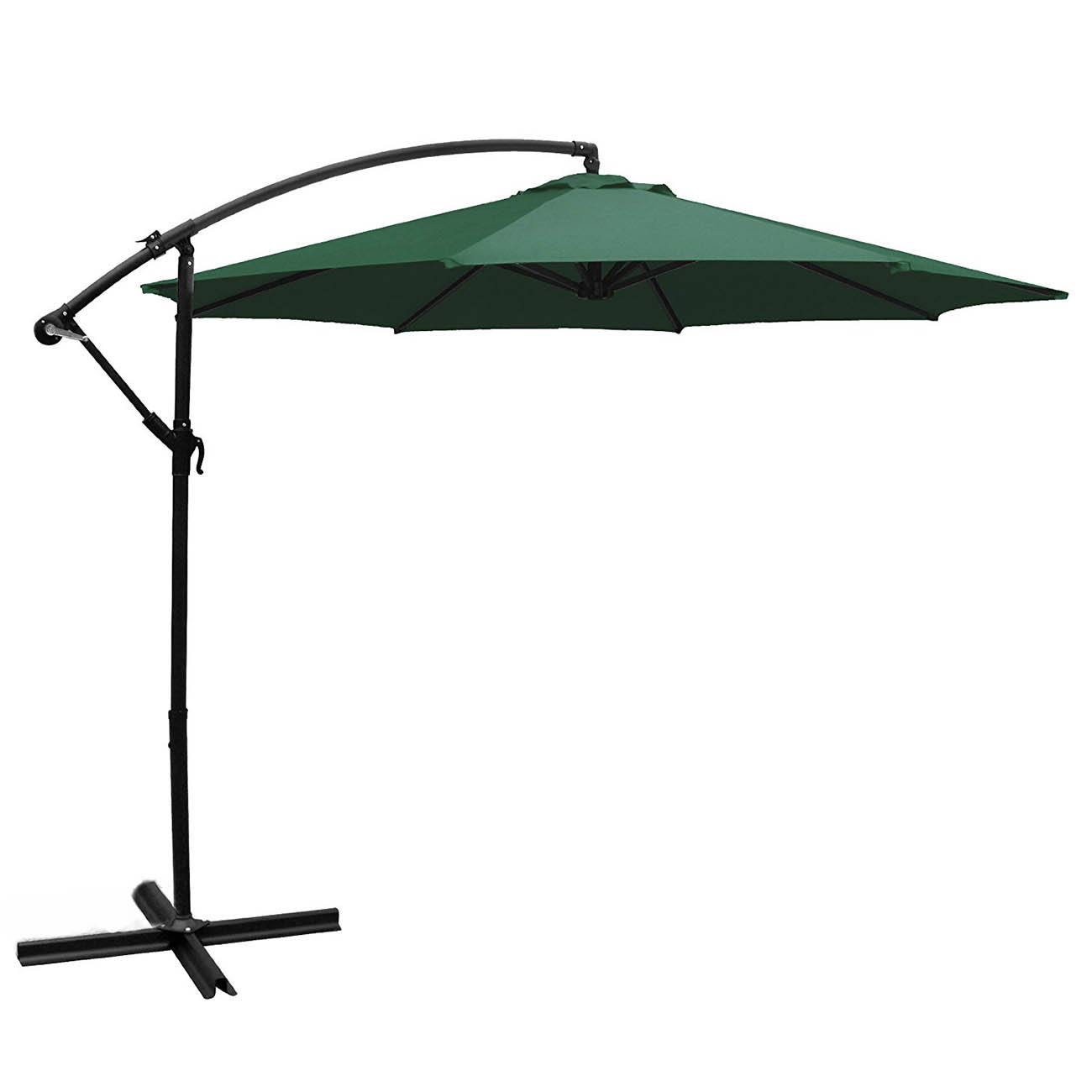 10 Ft Outdoor Patio Shade Umbrella Cantilever Uv Resistant Hanging