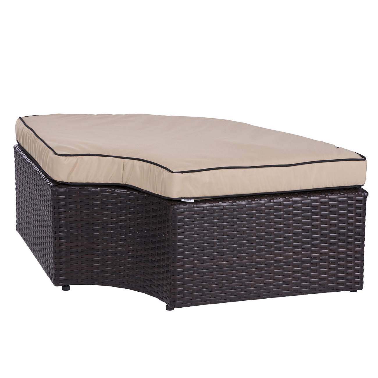 patio 2 in 1 rattan wicker lounge set round sunbed sofa w canopy outdoor daybed ebay. Black Bedroom Furniture Sets. Home Design Ideas