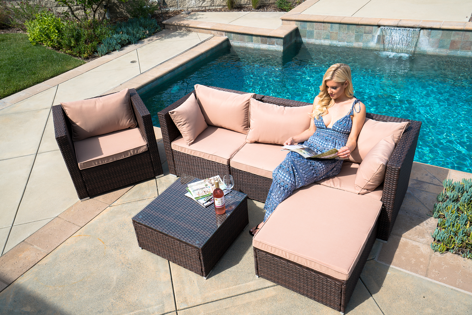 Marvelous Details About 6Pc Outdoor Patio Furniture Sectional Rattan Wicker Sofa Chair Couch Set Chaise Gmtry Best Dining Table And Chair Ideas Images Gmtryco